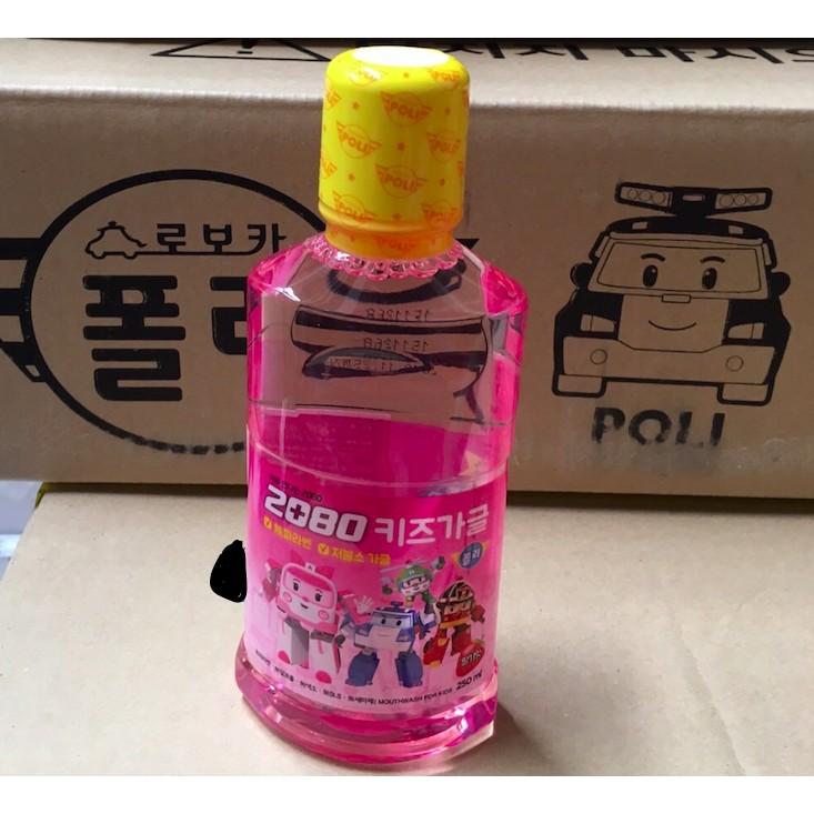 韓國波力安寶POLI 救援小隊2080 兒童漱口水草莓250ml 貨