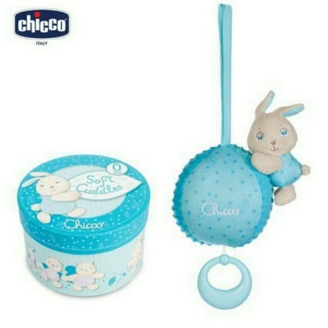 CHICCO 粉藍兔兔粉紅松鼠晚安音樂鈴