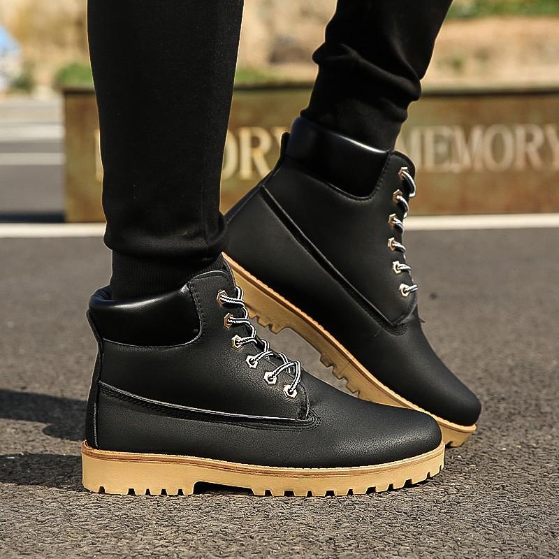 ❤ ❤ 馬丁靴男皮男靴黃靴工裝軍靴雪地短靴沙漠靴高幫男鞋大黃靴男