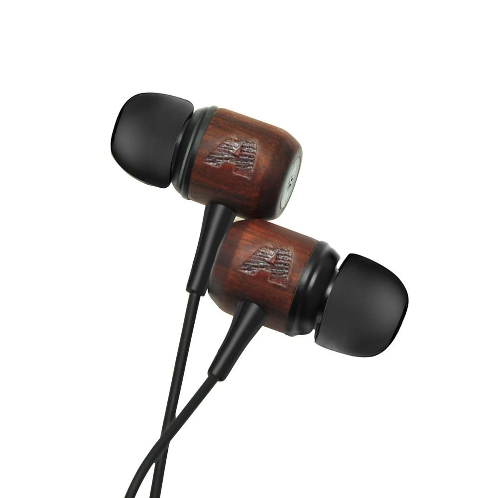有線木製強低音入耳式耳機手機耳塞帶麥克風