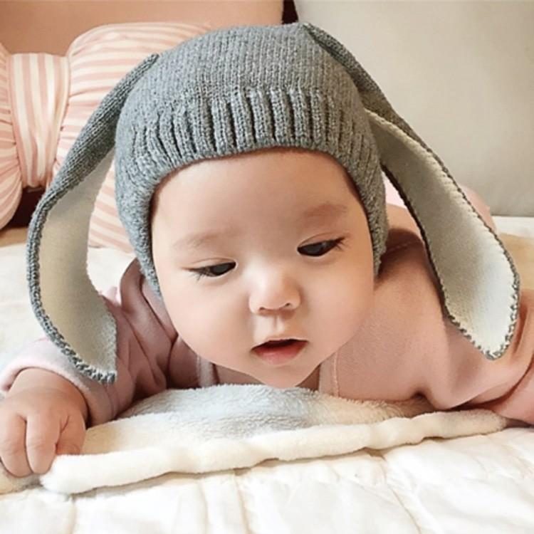 ~Qbaby 童衣舖~ 護耳韓國超長兔耳朵針織毛線帽