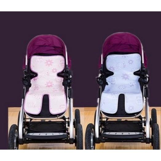 型嬰兒手推車餐座椅加厚冰絲涼席嬰兒座椅涼蓆娃娃車涼蓆