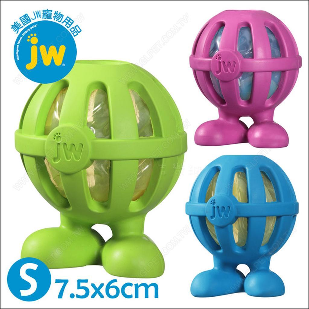 美國JW ~Crackle Heads 人型嗶嗶球S ~安全無毒耐咬發聲玩具