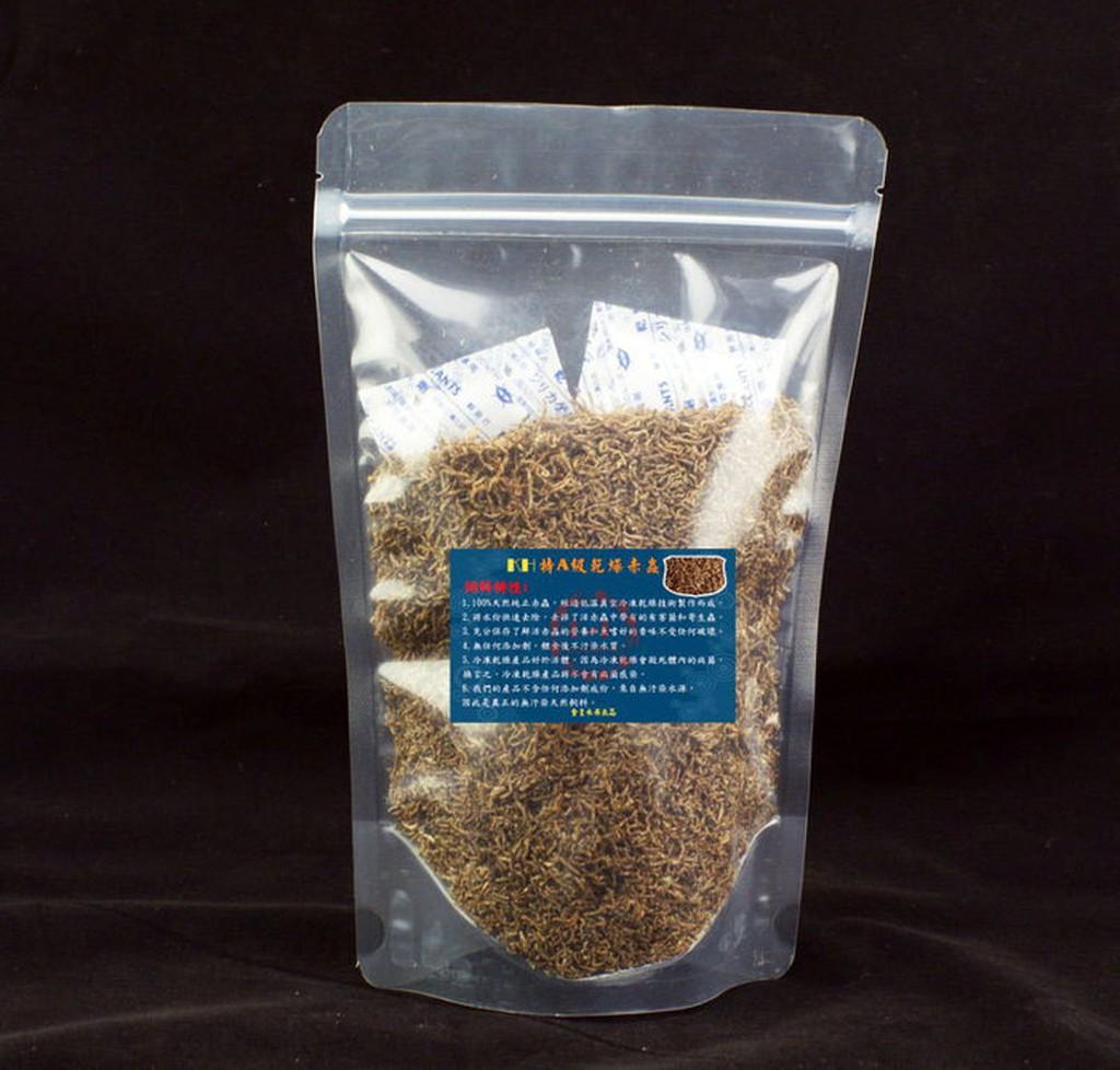 欣欣水族N78 KH 特A 級乾燥赤蟲60 克袋裝約900 950ML 大概500 與孔雀