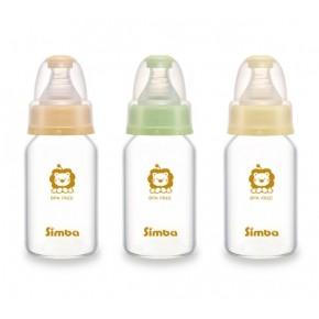 simba 小獅王辛巴超輕鑽 直圓玻璃小奶瓶120ml 醫學耐熱玻璃 無鉛油墨S6904