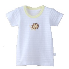 gospecial  出口 竹節棉純棉印花嬰兒短袖上衣睡衣內衣上衣308 可加購紗布蝴蝶衣