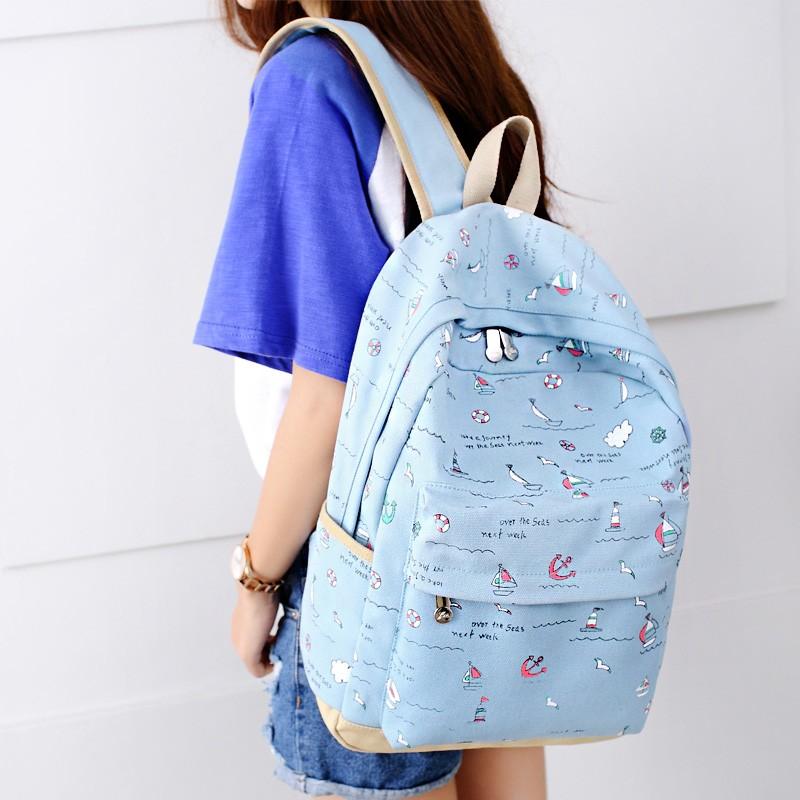 韓國小清新女包雙肩包 潮中學生書包 帆布包背包百搭旅行包書包後背包肩背包側背包帆布後背包防