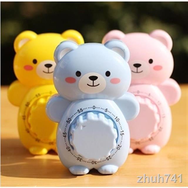 📣計時器現貨 卡通小熊定時器機械發條計時器廚房做飯溫奶提醒器寶寶提示鬧鐘 鬧鐘 時鐘 計時 小鬧鐘 靜音計時器