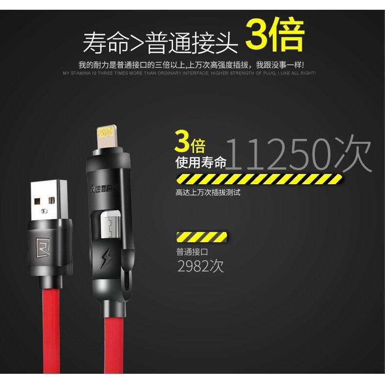 ~543 ~REMAX 二合一資料線iPhone6 Micro USB 充電線 充電傳輸S