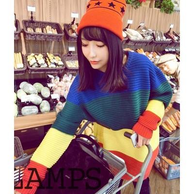 小眾古著彩虹毛衣韓國ulzzang 復古軟妹學院拼色條紋寬鬆套
