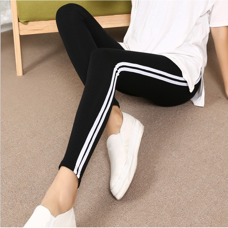 新春夏高腰健身褲女高彈力緊身速乾顯瘦 跑步瑜伽貼身打底長褲