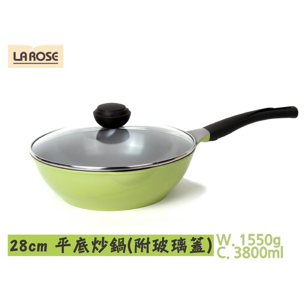 韓國CHEF TOPF 玫瑰鍋LA ROSE 炒鍋系列28cm 炒鍋附玻璃蓋無法 超取