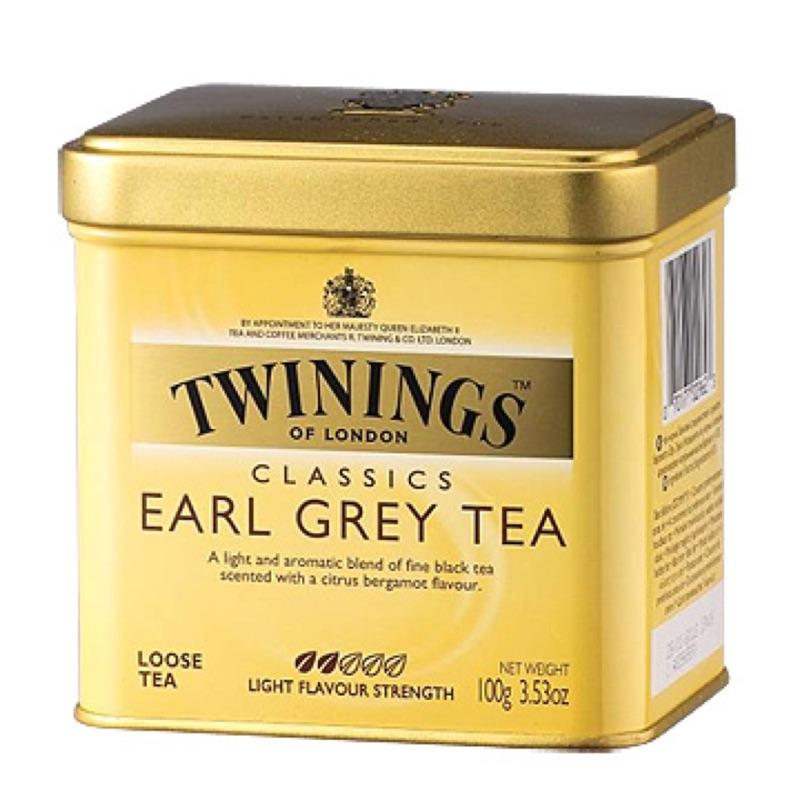 即期TWININGS 唐寧茶皇家伯爵茶100g 罐