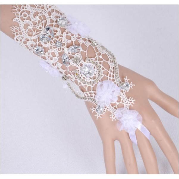 ~MALUCO ~ZM 9343 新娘婚禮派對舞台表演奢華唯美蕾絲水鑽 手套指環手鍊飾品直