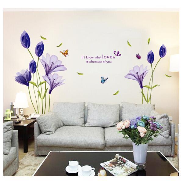 鬱金香壁貼 滿額全面 壁貼JB0050 ~紫色鬱金香AY9212 ~~HELLO 居家城堡