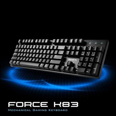 免 含稅附發票無法 寄送技嘉FORCE K83 紅軸中文電競機械式鍵盤
