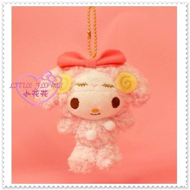 小花花 Hello Kitty 美樂蒂絨毛娃娃玩偶布偶吊飾手機吊飾包包掛飾變裝羊67875