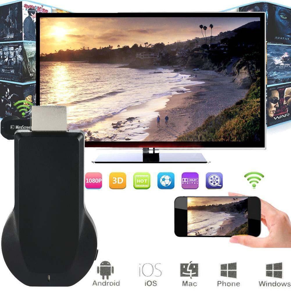 1080P MiraScreen 的WiFi 顯示接收機AV 適配器