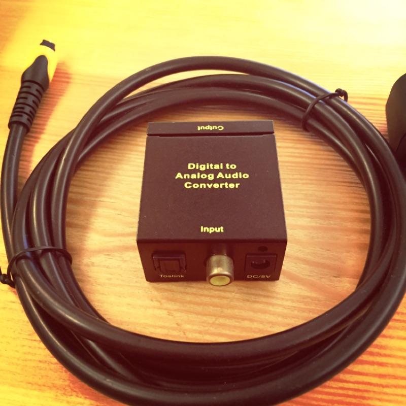 類比音源轉換器同軸光纖轉RCA 立體聲3 5mm