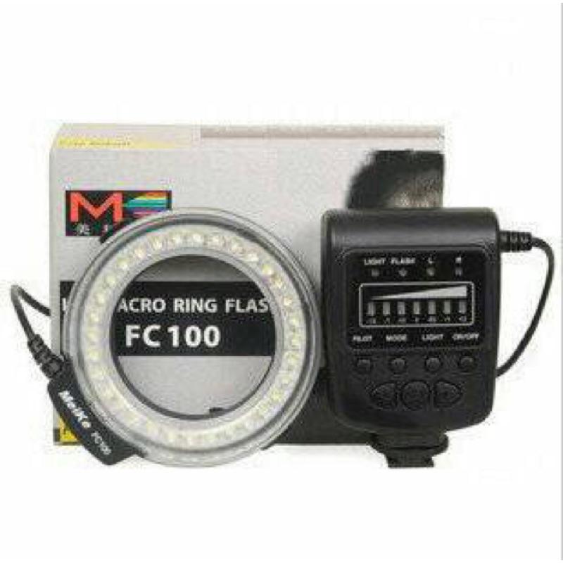 免 香港美科FC100 環形閃光燈LED 微距攝影燈 佳能尼康賓得 canon nikon