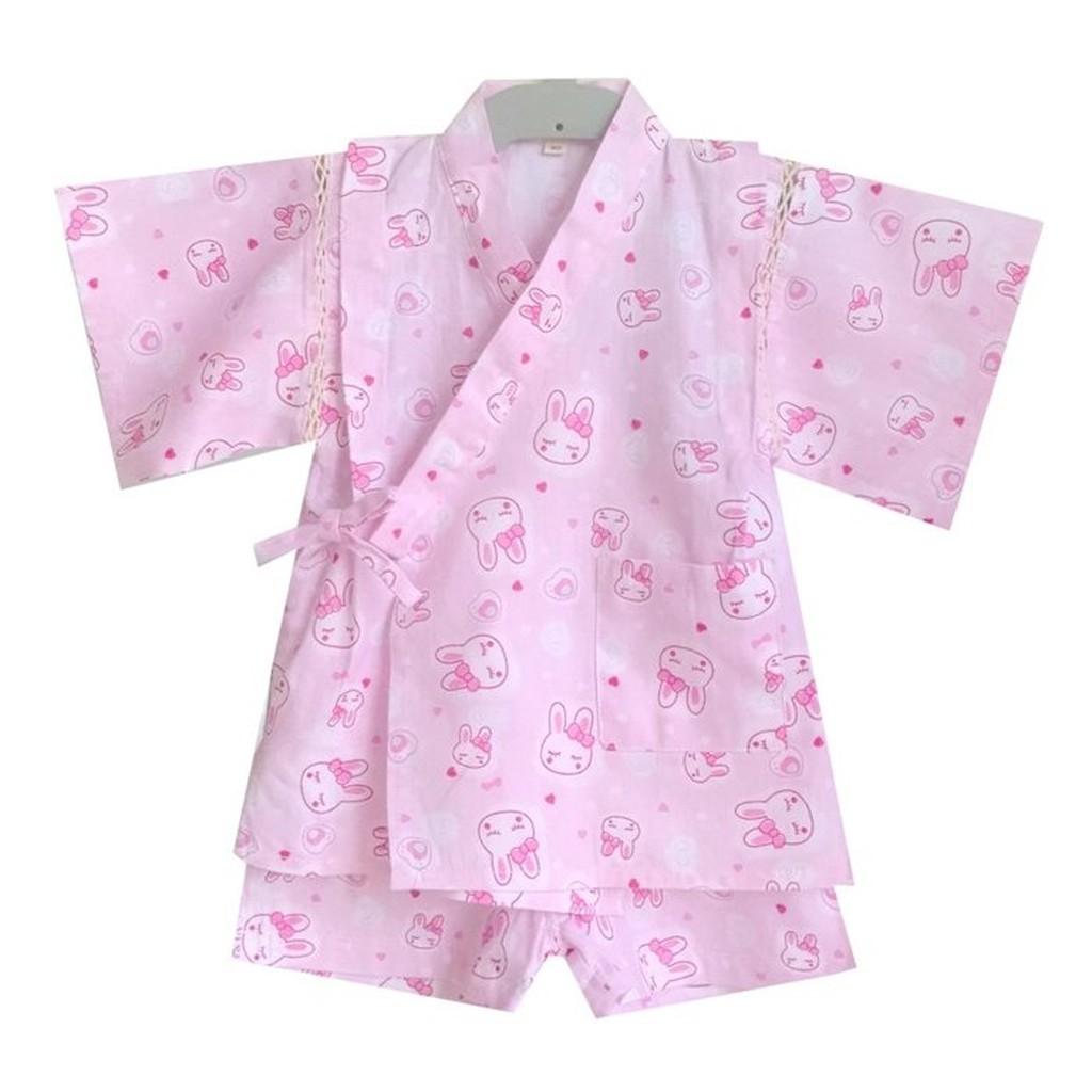 原單女童寶寶可愛小兔子純棉和服浴衣套裝居家服
