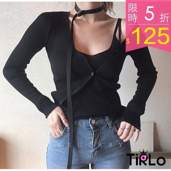 Tirlo 韓系 黑色可調式長頸帶單一現追加預計5 7 工作天出貨