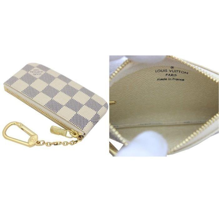 Louis Vuitton LV N62659 白棋盤格紋小型方型鑰匙零錢包