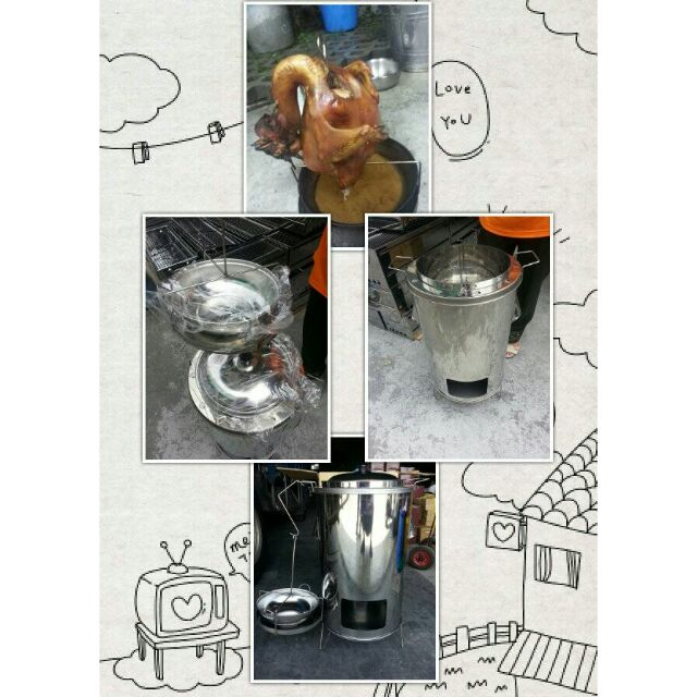 正304 加厚白鐵養生桶仔雞爐()