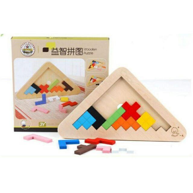 早教積木木製智力拼圖