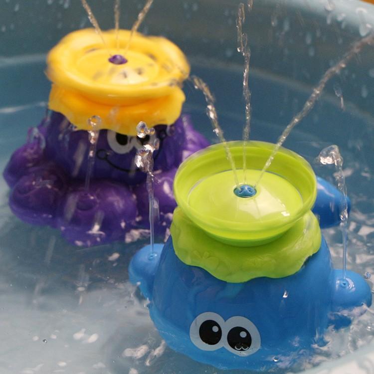 限定 205 至11 15 CIKOO 戲水玩具噴水八爪魚小鯨魚移動旋轉戲水淋浴玩具