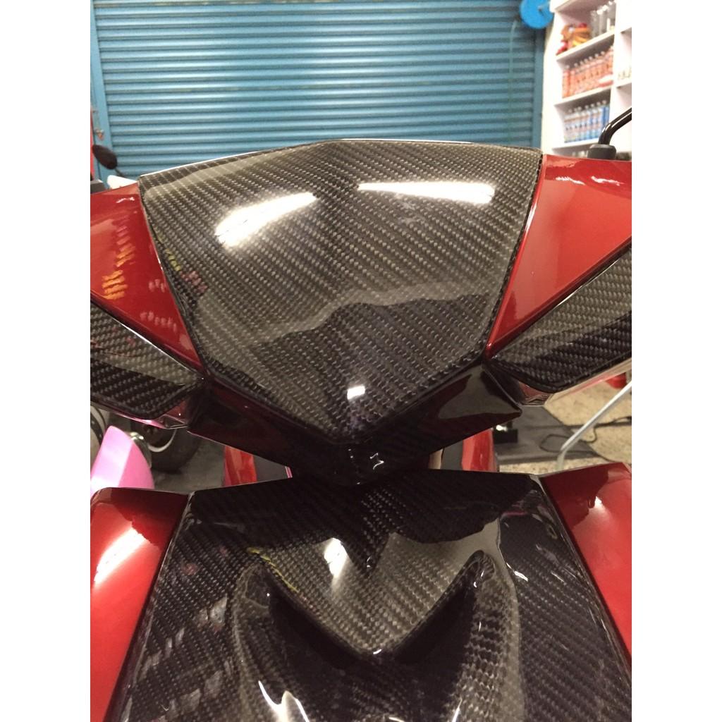 惡輪四代勁戰碳纖維開模製成小盾貼片