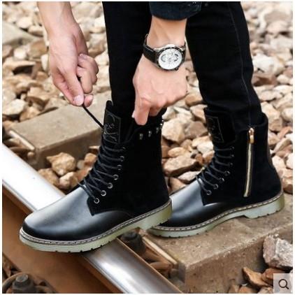 特惠馬丁靴男士軍靴短靴 潮流皮靴 工裝高幫馬丁鞋特種兵男靴子 折扣