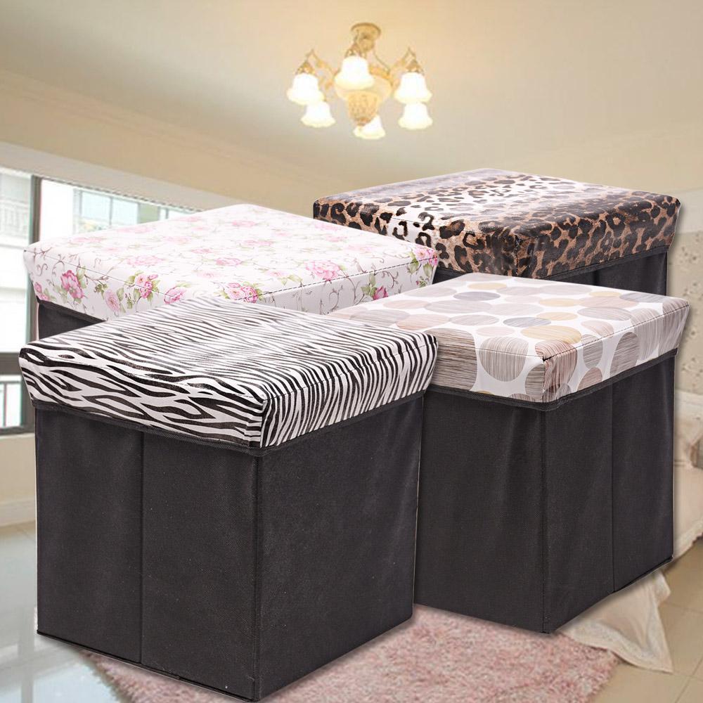 四方皮革收納椅收納凳IS010