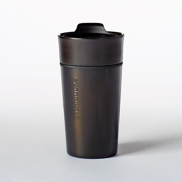 美國星巴克黑色不鏽鋼陶瓷隨身杯不鏽鋼杯陶瓷杯保溫杯保溫瓶馬克杯咖啡杯Starbucks 膳