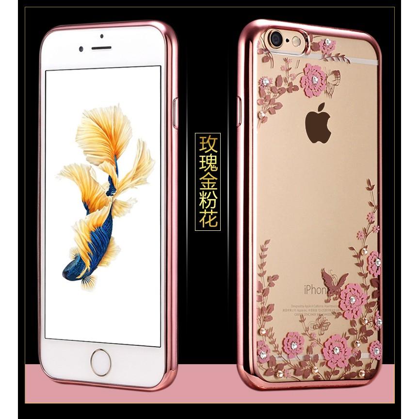 iphone6 iphone6plus 鑲鑽秘密花園電鍍雷雕軟殼手機殼保護殼手機套保護套