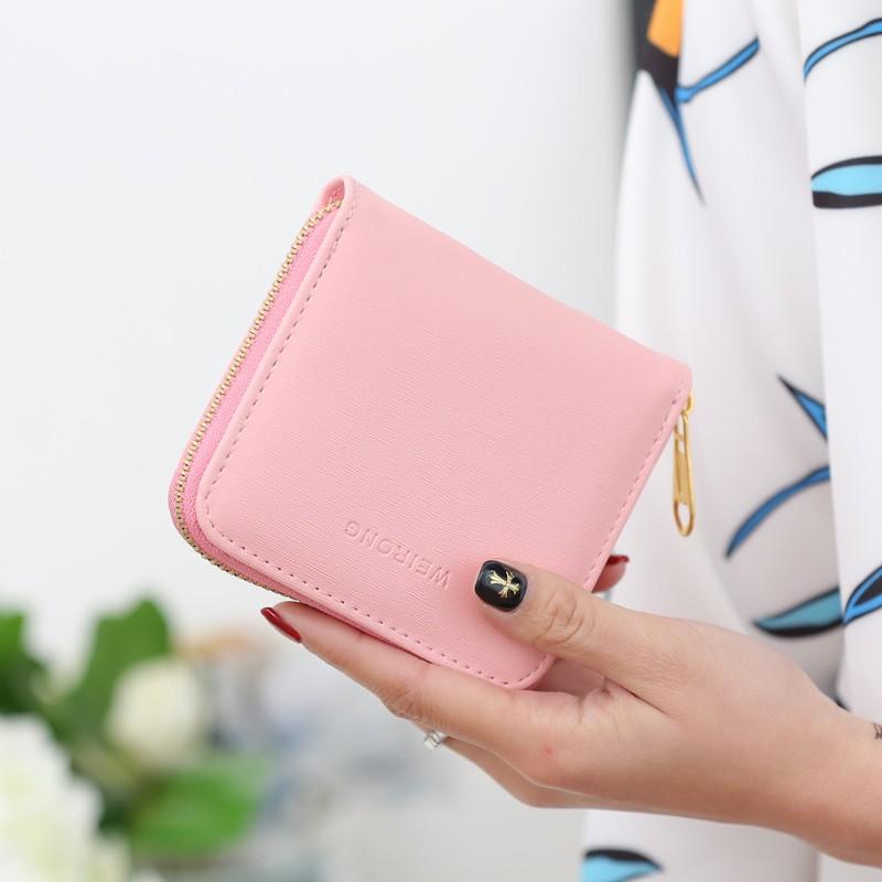 櫻桃 角落小錢包女短款女士錢包 拉鏈小零錢包女學生迷你卡包硬幣包簡約