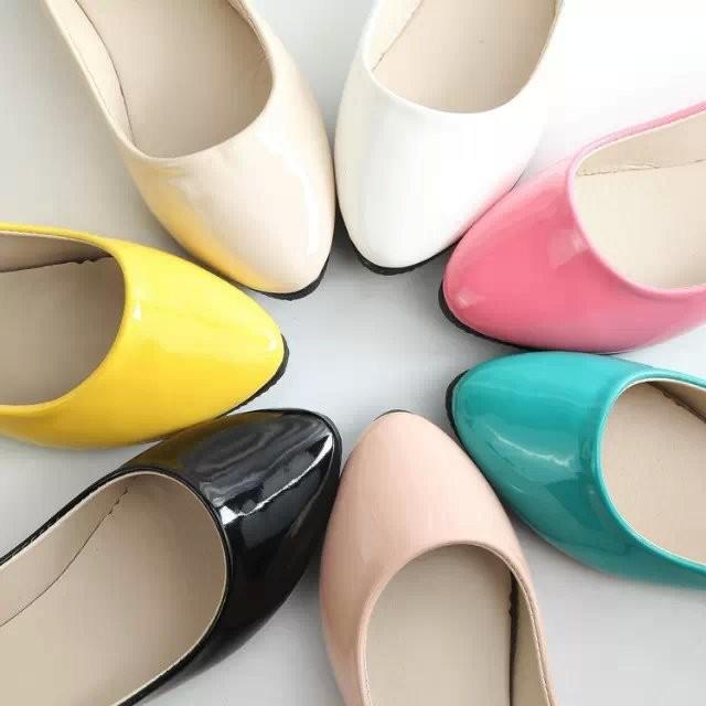 上班族、OL 、櫃姐都愛穿春夏 糖果色女單鞋尖頭淺口低跟女工作鞋 鞋舒壓好穿軟底乳膠墊婚鞋
