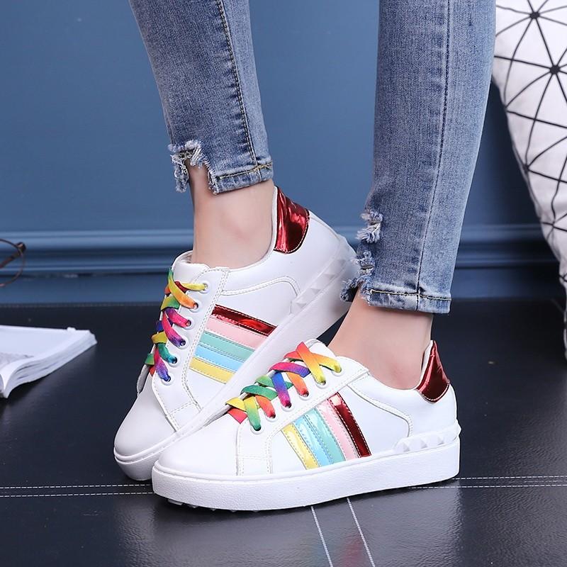 透氣板鞋女鞋 情侶鞋子 潮鞋明星楊冪同款小白鞋女學生