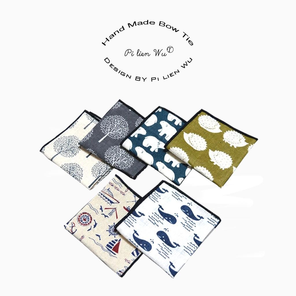 口袋巾手帕~╮玫瑰~誌塗鴉手繪印染亞麻方巾男女 休閒手帕口袋巾,直 120 元