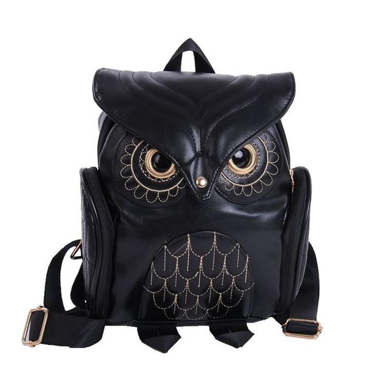 貓頭鷹雙肩包潮流包氣質包女包 包貓頭鷹背包爆款