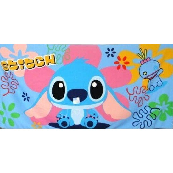 ❤ 史迪奇超細纖維大浴巾❤超細纖維超吸水不掉毛穴強力吸水快乾大浴巾毛巾童巾迪士尼