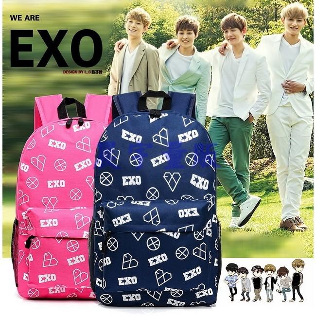 晨宇量販EXO 雙肩背包5 色 學院風雙肩包後背包旅行包書包登山包手提包側背包電腦包