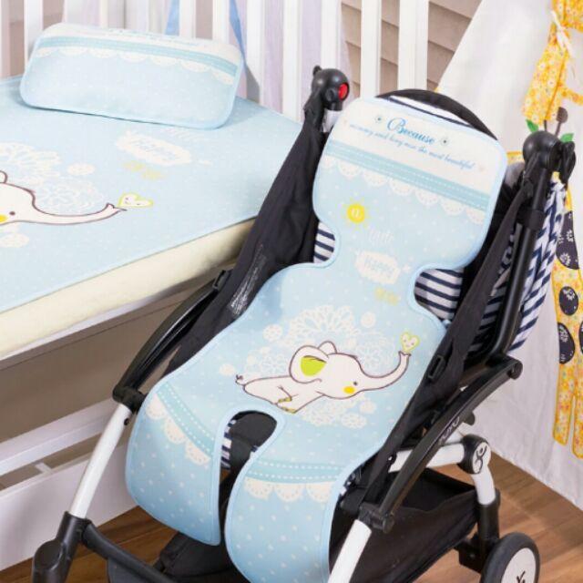 嬰兒推車汽車坐椅凉蓆冰絲涼蓆可水洗寶寶餐椅餐搖椅傘車蓆手推車涼蓆 新生兒嬰幼兒用品透氣防悶