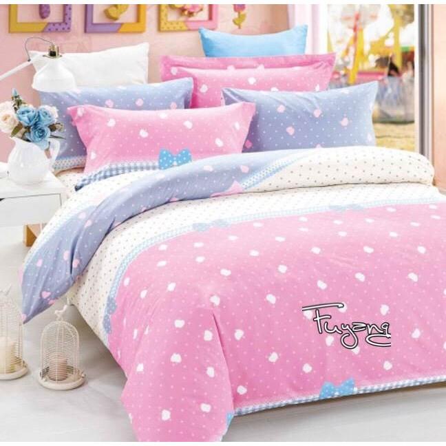 公主日記舒服棉床包組蘋果粉色點點田園風夢幻雙人單人雙人加大