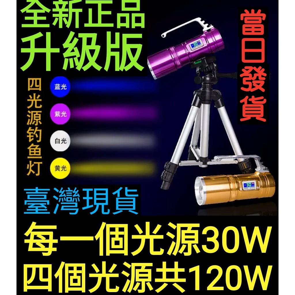 夜間釣魚燈強光 照明燈藍光手電筒手電筒夜釣燈垂釣用品釣魚用具漁具神器