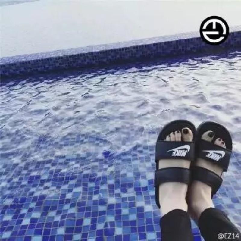 韓國ulzzang 黑白忍者男女涼拖鞋(36 40 尺寸備註)