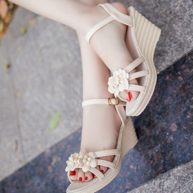 揪愛買 氣質花朵高跟涼鞋厚底涼鞋涼鞋