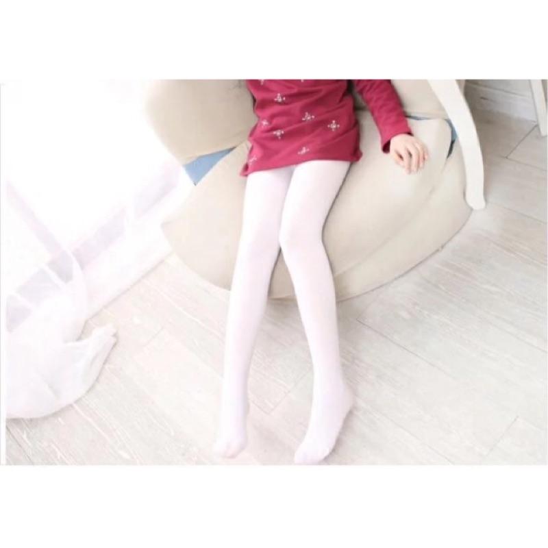 春秋天鵝絨兒童連褲襪女童打底褲襪寶寶絲襪女童白色舞蹈襪子夏薄