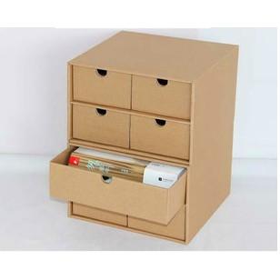 紙質抽屜收納盒儲物盒收納箱辦公桌面收納床頭化妝品整理盒