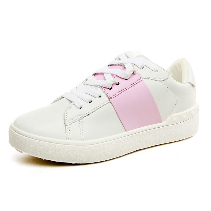 USUN ®~情侶鞋系列~男女真皮情侶休閒鞋板鞋跑步鞋潮鞋韩版小白鞋